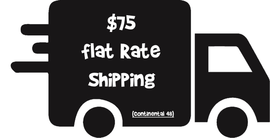 $75 Flat rate shipping nationwide