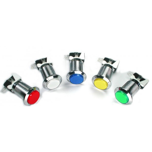 Arcade Buttons - Microswitch - LED - Chrome - 26mm