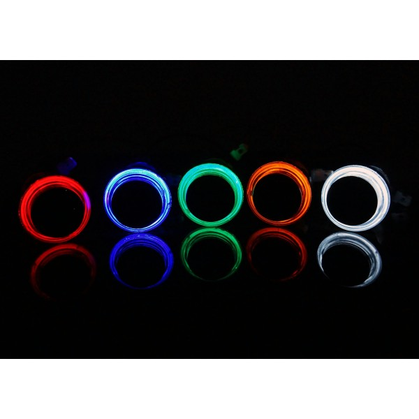 *NEW Glow ECLIPSE LED Arcade Buttons - Microswitch - 26mm