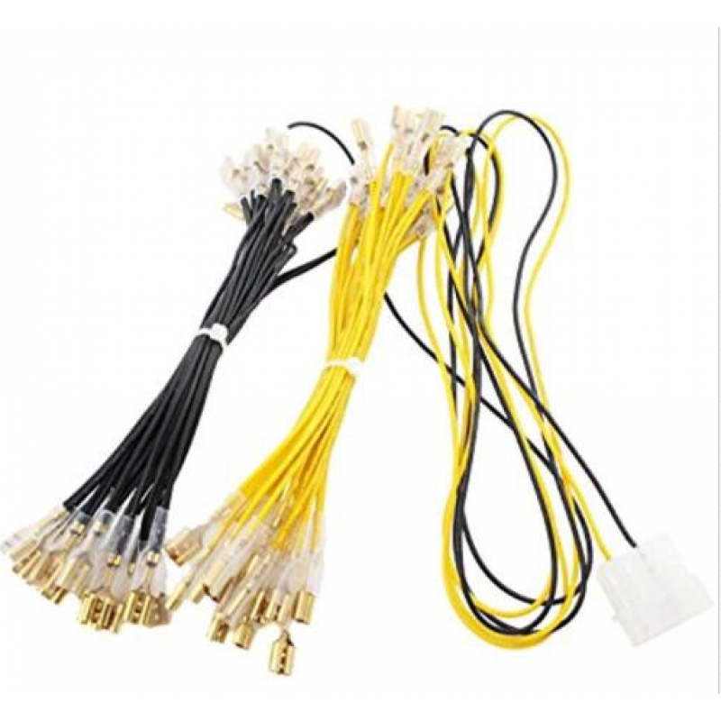 wiring harness connector pins power wiring harness for up to 30 arcade led lighted buttons w 4  power wiring harness for up to 30